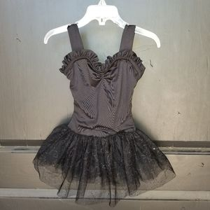 Girls Sz Small CAPEZIO Black ballet Leotard w/tutu